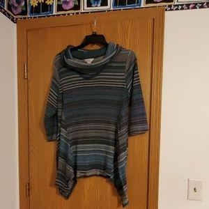 Sweater light weight cowl neck